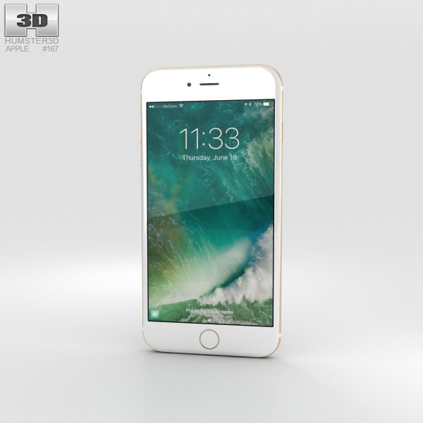 Apple iPhone 7 Plus Gold 3D model