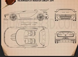 Volkswagen GTI Roadster 2014 Blueprint
