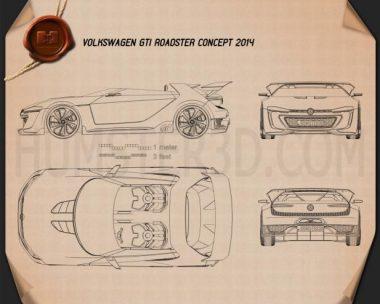 Volkswagen GTI Roadster 2014 Blueprint