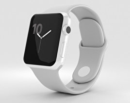 3D model of Apple Watch Edition Series 2 38mm White Ceramic Case Cloud Sport Band
