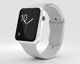 3D model of Apple Watch Edition Series 2 42mm White Ceramic Case Cloud Sport Band
