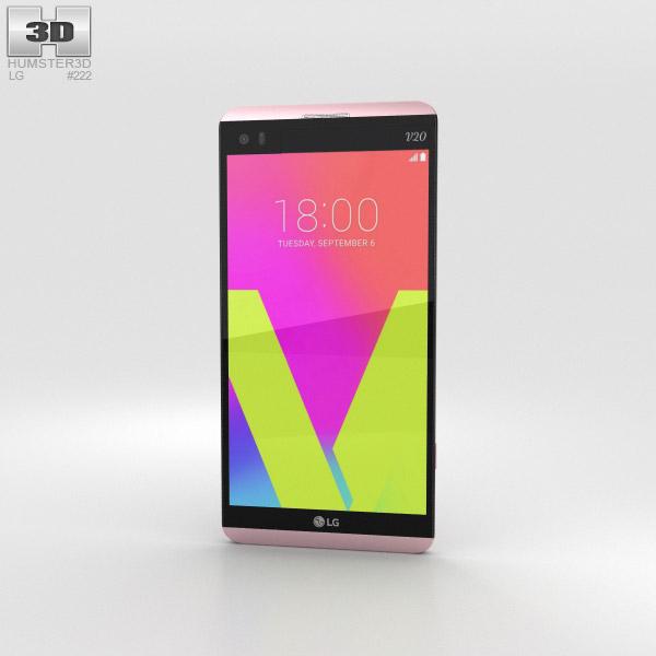 LG V20 Pink 3D model