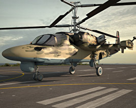 3D model of Kamov Ka-52 Alligator