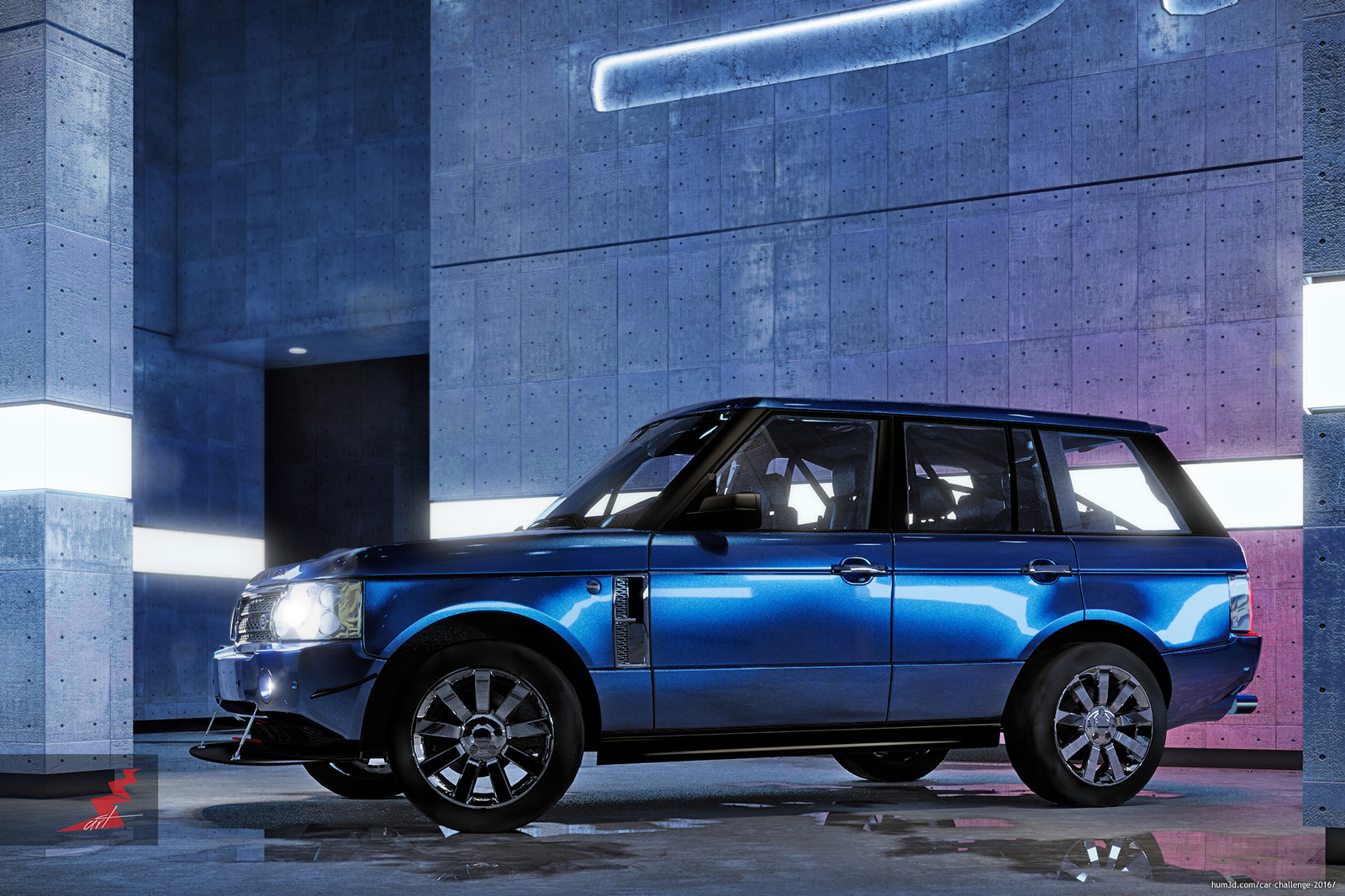 Land Rover - Range Rover Supercharged 2008 3d art