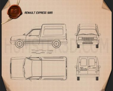 Renault Express 1985 Blueprint