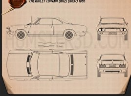 Chevrolet Corvair 1965 Blueprint