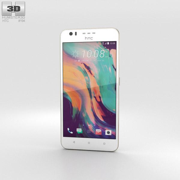 HTC Desire 10 Lifestyle Polar White 3D model