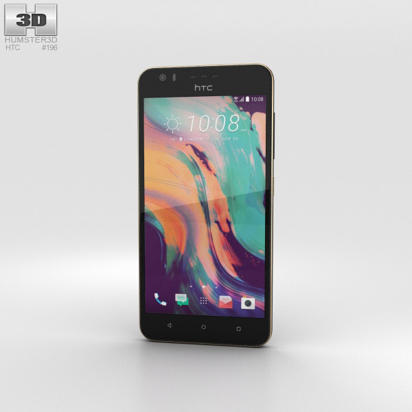 HTC Desire 10 Lifestyle Stone Black 3D model