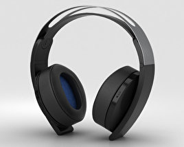 3D model of Sony PlayStation 4 Platinum Wireless Headset