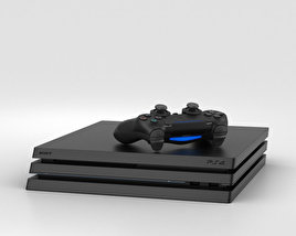 3D model of Sony PlayStation 4 Pro