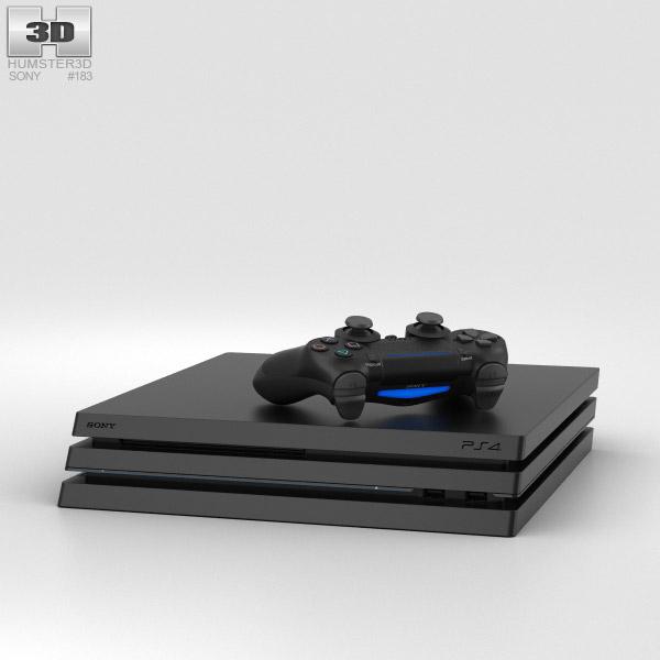 Sony PlayStation 4 Pro 3D model