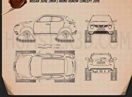Nissan Juke Nismo RSnow 2015 Blueprint