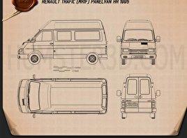 Renault Trafic Panel Van HR 1995 Blueprint