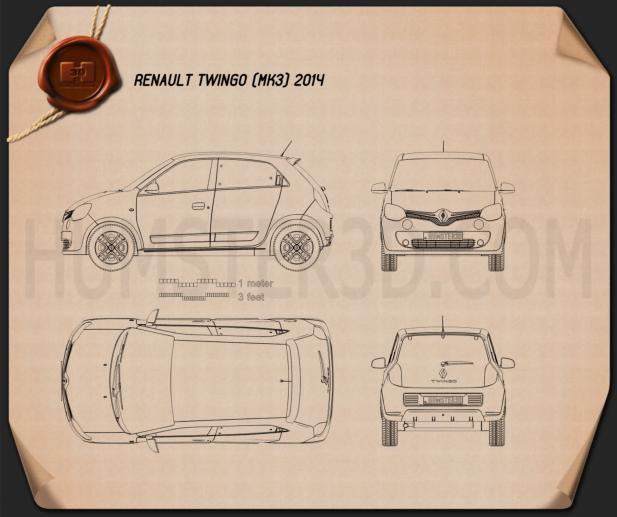 Renault Twingo 2014 Blueprint