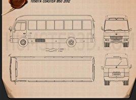 Toyota Coaster B50 2012 Blueprint