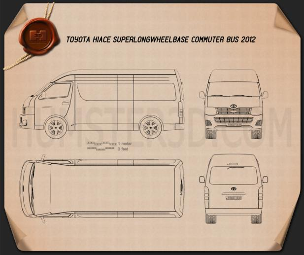 Toyota HiAce Super Long Wheel Base 2012 Blueprint