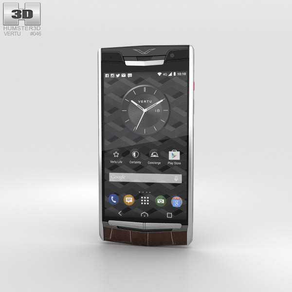 Vertu Signature Touch (2015) Cocoa Alligator 3D model