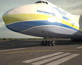 3D model of Antonov An-225 Mriya