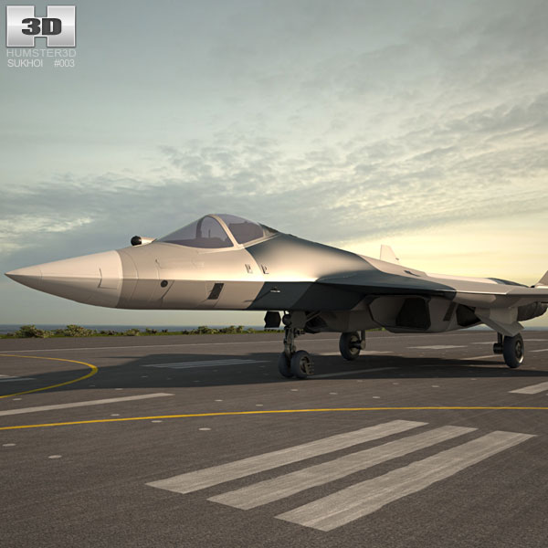 3D model of Sukhoi PAK FA (T-50)