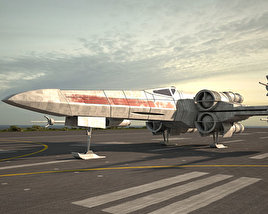 T-65 X-wing Fighter 3D model