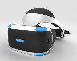 3D model of Sony PlayStation VR