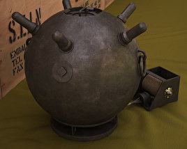 3D model of Naval mine