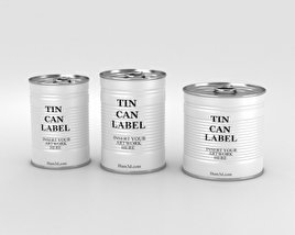 3D model of Tin Can Set