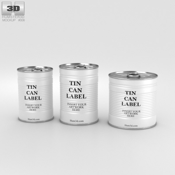 Tin Can Set 3D model