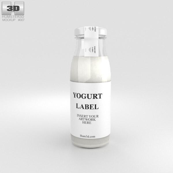 Yogurt Bottle 3D model