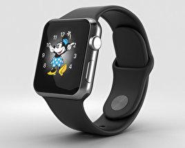 Apple Watch Series 2 38mm Space Black Stainless Steel Case Black Sport Band 3D model