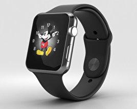 Apple Watch Series 2 42mm Space Black Stainless Steel Case Black Sport Band 3D model