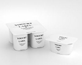 3D model of Yogurt Containers