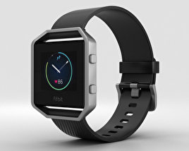 3D model of Fitbit Blaze Black/Silver