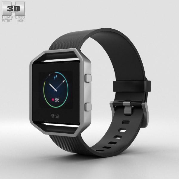 Fitbit Blaze Black/Silver 3D model