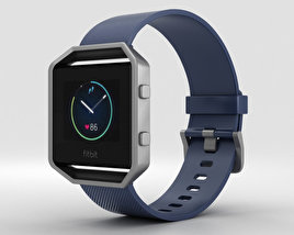 3D model of Fitbit Blaze Blue/Silver