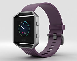 3D model of Fitbit Blaze Plum/Silver