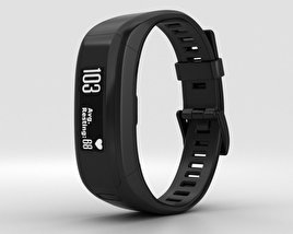 3D model of Garmin Vivosmart HR Black