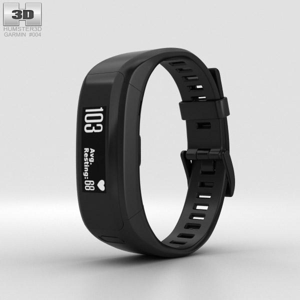 Garmin Vivosmart HR Black 3D model