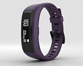 3D model of Garmin Vivosmart HR Imperial Purple