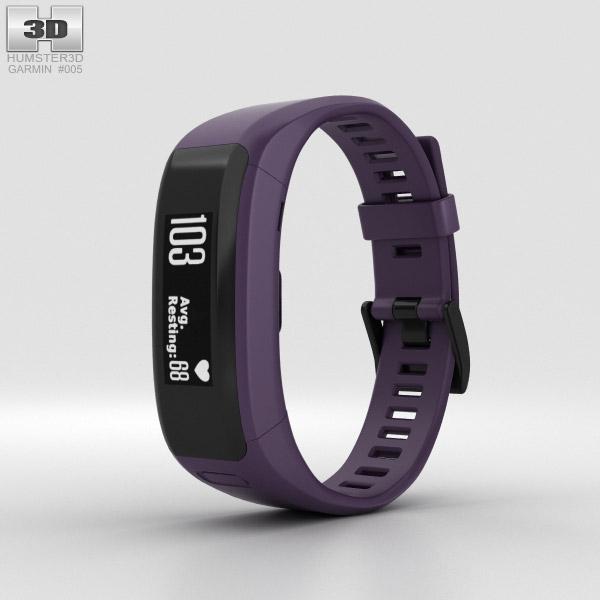 Garmin Vivosmart HR Imperial Purple 3D model
