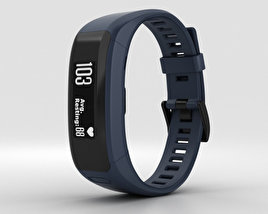 3D model of Garmin Vivosmart HR Midnight Blue
