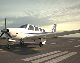 3D model of Beechcraft A36 Bonanza
