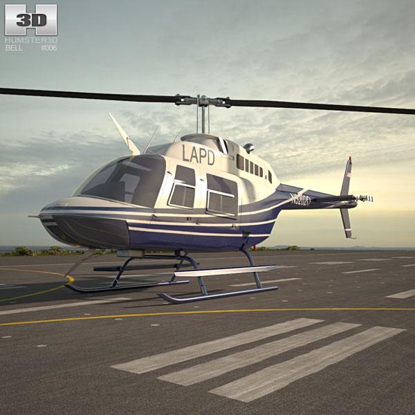 3D model of Bell 206