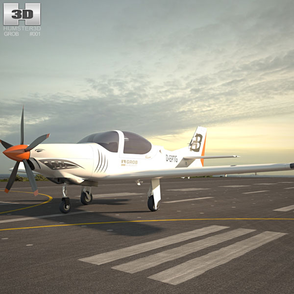 Grob G 120TP Aerobatic aircraft 3D model