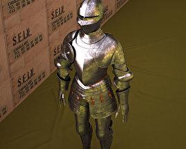 Plate armour 3D model