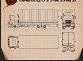 Volkswagen Constellation Box Truck 2011 Blueprint