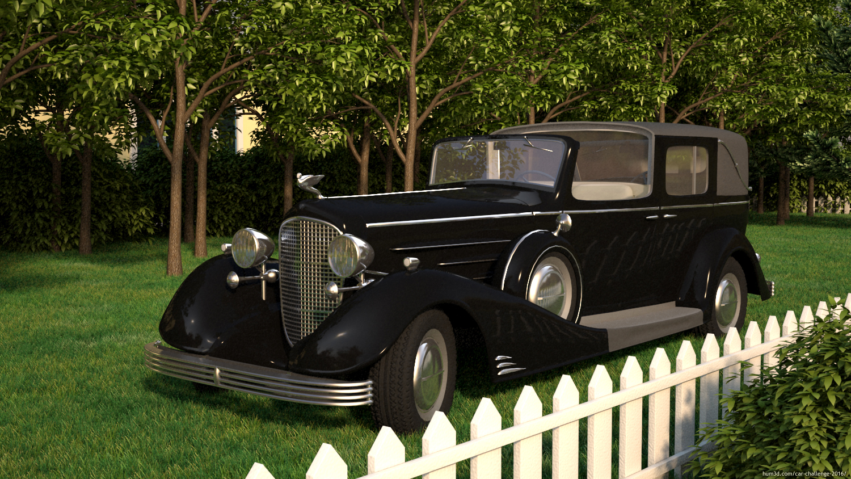 Old car weekend 3d art
