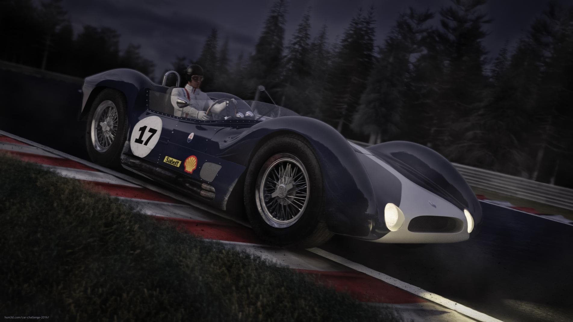 Le Mans 3d art