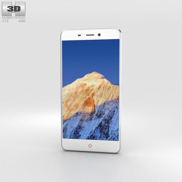 ZTE Nubia N1 Silver 3D model
