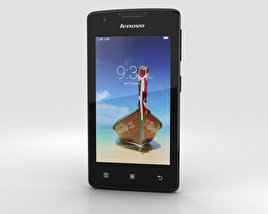 3D model of Lenovo A1000 Onyx Black